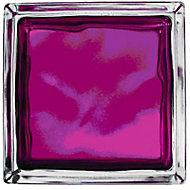 Pavé de verre Brilly Nuage rubis 19 x 19 cm, ép.80 mm