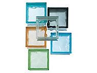 Pavé de verre Nuage azur 19 x 19 cm, ép.80 mm