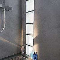 Pavé de verre Riva incolore 19 x 19 cm, ép.80 mm
