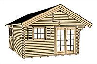 Pavillon bois Weka, 34,5 m² ép.45 mm