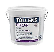 Peinture 4 en 1 Tollens pro+ blanche velours 10L