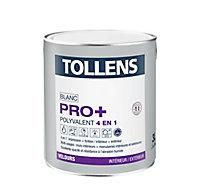 Peinture 4 en 1 Tollens pro+ blanche velours 3L