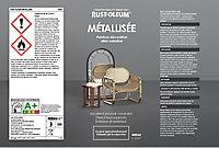 Peinture aérosol effet métallisé Rust-Oleum argent 400ml