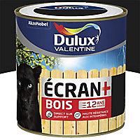 Peinture bois extérieur Dulux Valentine Ecran+ noir satin 0,5L
