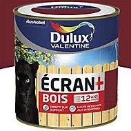Peinture bois extérieur Dulux Valentine Ecran+ rouge basque satin 0,5L