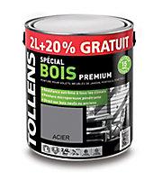 Peinture bois extérieur premium acier Tollens 2L + 20% gratuit