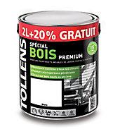 Peinture bois extérieur premium blanc Tollens 2L + 20% gratuit