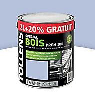 Peinture bois extérieur premium bleu lavande Tollens 2L + 20% gratuit