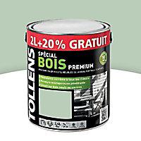 Peinture bois extérieur premium vert olivier Tollens 2L + 20% gratuit
