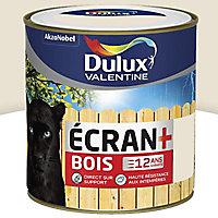 Peinture bois intérieur extérieur Dulux Valentine Ecran+ blanc crème satin 0,5L