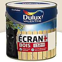 Peinture bois intérieur extérieur Dulux Valentine Ecran+ blanc crème satin 2L