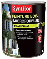 Peinture bois microporeuse int/ext Syntilor 2,5L Satiné Gris Basalte