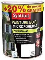 Peinture bois Syntilor microporeuse blanc 2,5L + 20%