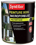 Peinture bois Syntilor microporeuse gris anthracite 2,5L