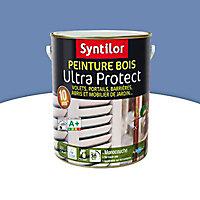 Peinture bois Ultra Protect intérieur extérieur bleu lavande Syntilor 2,5L