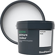 Peinture cuisine GoodHome blanc North Pole mat 2,5L