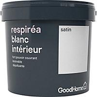 Peinture dépolluante GoodHome blanc satin 5L
