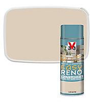 Peinture de rénovation aérosol multi-supports V33 Easy Reno lin satin 400ml