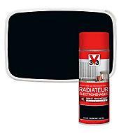 Peinture de rénovation aérosol radiateur électroménager V33 noir carbone satin 400ml