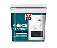 Peinture de rénovation faïence et lambris V33 anthracite satin 750ml