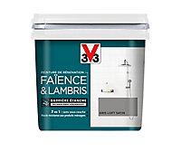 Peinture de rénovation faïence et lambris V33 gris loft satin 750ml