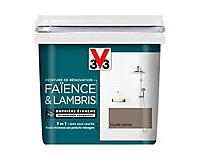 Peinture de rénovation faïence et lambris V33 taupe satin 750ml