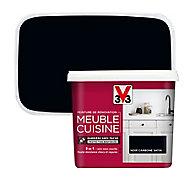 Peinture de rénovation meuble cuisine V33 noir carbone satin 750ml