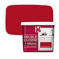 Peinture de rénovation meuble cuisine V33 rouge exquis satin 750ml