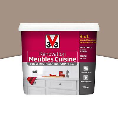 Peinture De Renovation Meubles Cuisine V33 Taupe Satin 0 75l Castorama