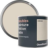 Peinture de rénovation meubles GoodHome beige Cancún satin 0,5L