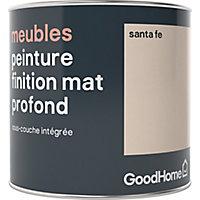 Peinture de rénovation meubles GoodHome beige Santa Fe mat profond 0,5L