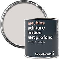 Peinture de rénovation meubles GoodHome blanc Calgary mat profond 125ml