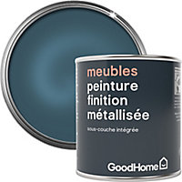 Peinture de rénovation meubles GoodHome bleu Laguna Beach métallisé 125ml