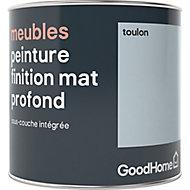 Peinture de rénovation meubles GoodHome bleu Toulon mat profond 0,5L
