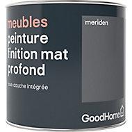 Peinture de rénovation meubles GoodHome gris Meriden mat profond 0,5L