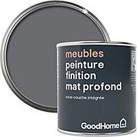 Peinture de rénovation meubles GoodHome gris Meriden mat profond 125ml