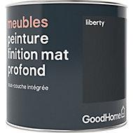 Peinture de rénovation meubles GoodHome noir Liberty mat profond 0,5L