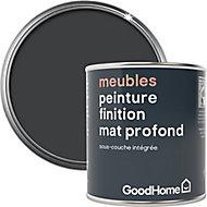 Peinture de rénovation meubles GoodHome noir Liberty mat profond 125ml