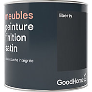 Peinture de rénovation meubles GoodHome noir Liberty satin 0,5L