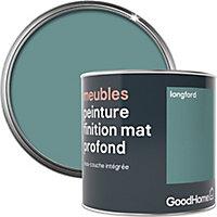 Peinture de rénovation meubles GoodHome vert Longford mat profond 0,5L