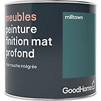 Peinture de rénovation meubles GoodHome vert Milltown mat profond 0,5L