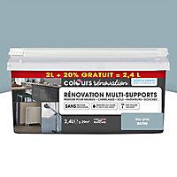 Peinture de rénovation multi-supports Colours bleu grisé satiné 2L + 20% gratuit