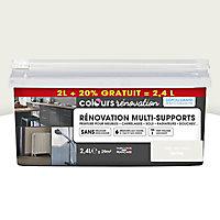Peinture de rénovation multi-supports COLOURS fleur de coton satiné 2L + 20% gratuit
