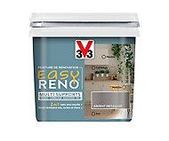 Peinture de rénovation multi-supports V33 Easy Reno argent métallisé 0,75L