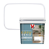 Peinture de rénovation multi-supports V33 Easy Reno blanc satin 0,75L
