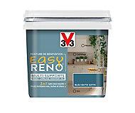 Peinture de rénovation multi-supports V33 Easy Reno bleu batik satin 0,75L