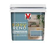 Peinture de rénovation multi-supports V33 Easy Reno bleu gris satin 0,75L