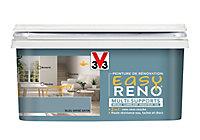 Peinture de rénovation multi-supports V33 Easy Reno bleu gris satin 2L