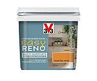 Peinture de rénovation multi-supports V33 Easy Reno jaune miel satin 0,75L