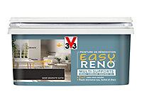 Peinture de rénovation multi-supports V33 Easy Reno noir graphite satin 2L